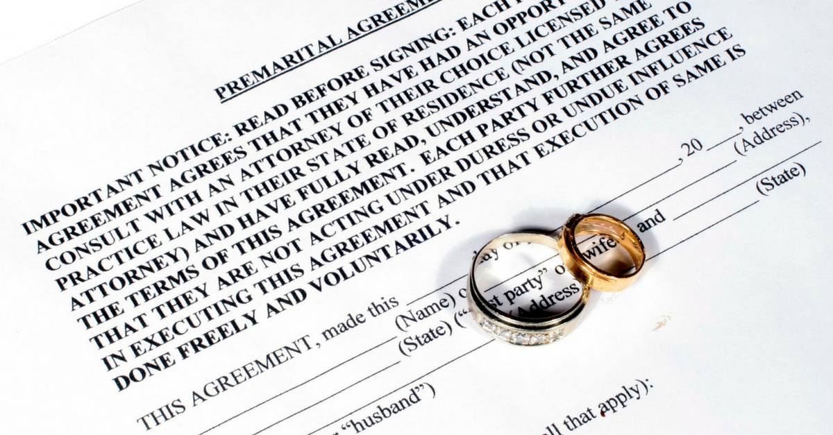 What Will Happen To Your Assets Without A Prenuptial Agreement